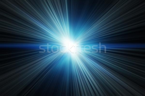 Blanco flash azul fondos sol resumen Foto stock © mikhail_ulyannik