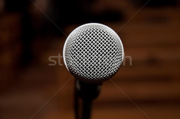 銀 マイク 音楽 背景 金属 暗い ストックフォト © mikhail_ulyannik