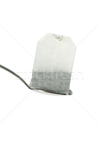 teabag with spoon isolated on white Stock photo © mikhail_ulyannik