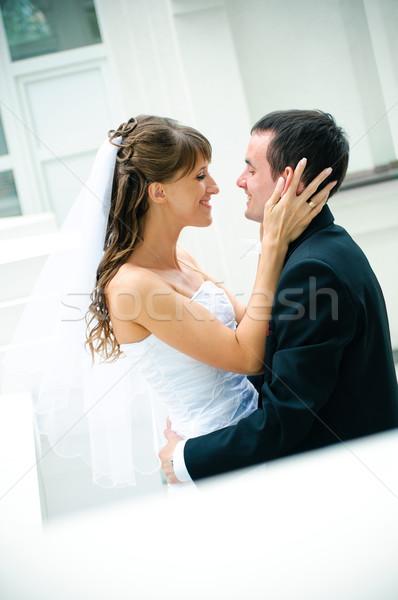 Bruidegom bruid omarmen kijken ander tederheid Stockfoto © mikhail_ulyannik
