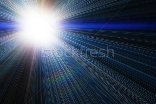 白 惑星 暗い 太陽 抽象的な 光 ストックフォト © mikhail_ulyannik