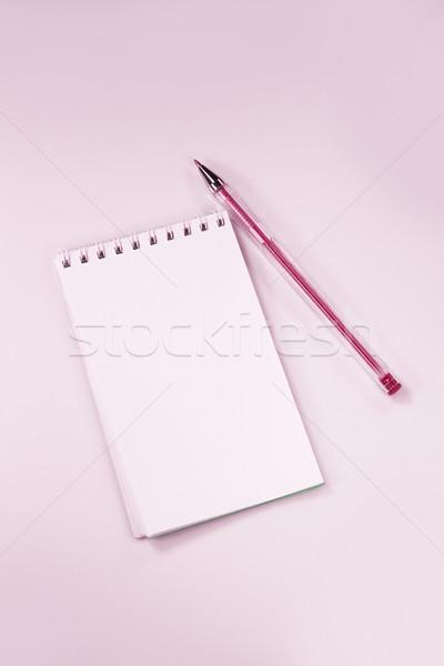 ノートブック ペン ピンク 背景 ツール インク ストックフォト © mikhail_ulyannik