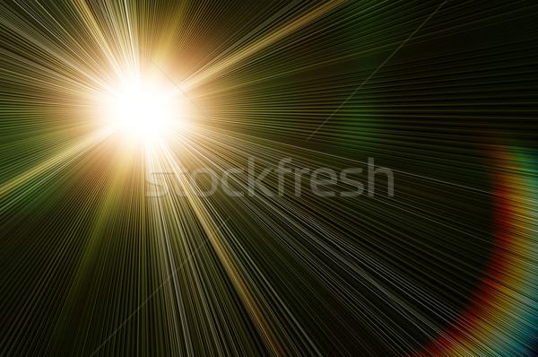 黄色 惑星 フラッシュ 黒 背景 太陽 ストックフォト © mikhail_ulyannik