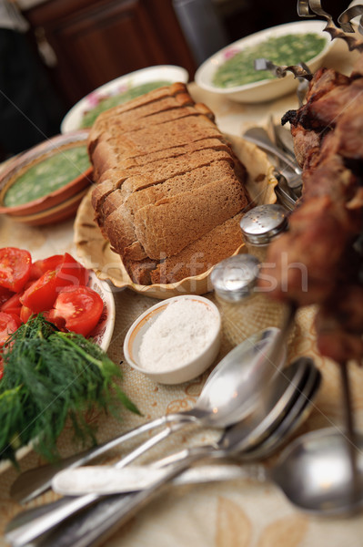Mesa alimentos fondos muchos objeto cocina Foto stock © mikhail_ulyannik
