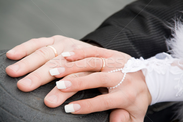 wedding hands Stock photo © mikhail_ulyannik