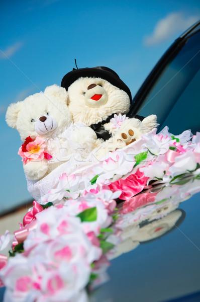 небольшой Тедди плюш свадьба автомобилей Сток-фото © mikhail_ulyannik
