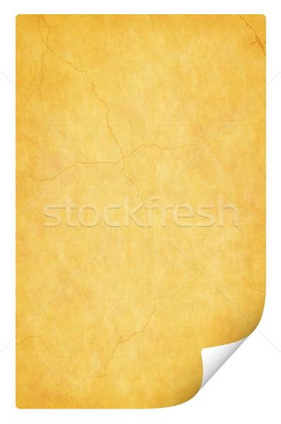 aged curl page. Retro texture Stock photo © mikhail_ulyannik