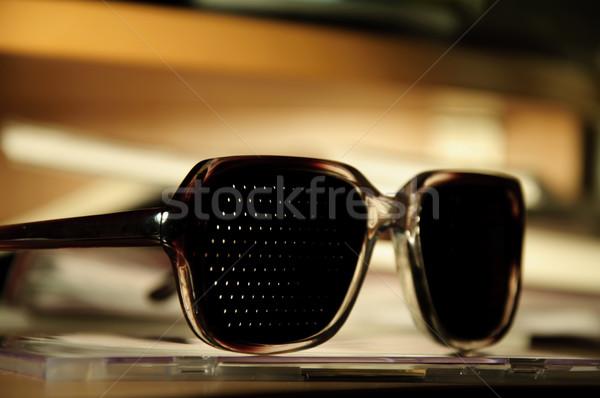 医療 眼鏡 表 眼鏡 黒 シルエット ストックフォト © mikhail_ulyannik
