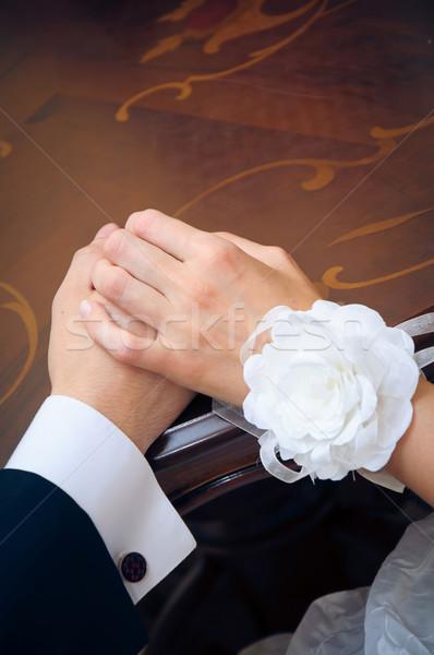hand in hands. Love in action. Stock photo © mikhail_ulyannik