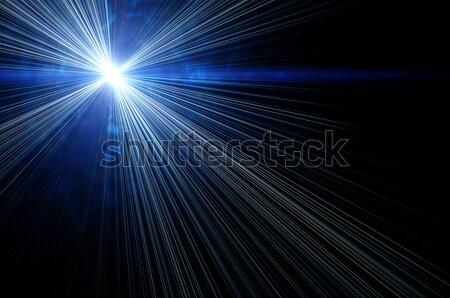 фантастический пространстве синий зеленый солнце Сток-фото © mikhail_ulyannik