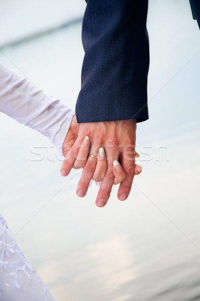 Szeretet érintés kéz esküvő pár nő Stock fotó © mikhail_ulyannik