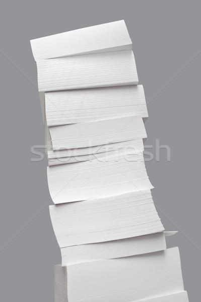 Groß Turm leeres Papier Aufkleber Stock foto © mikhail_ulyannik