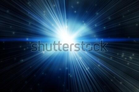Fényes villanás kék hátterek robbanás csillag Stock fotó © mikhail_ulyannik