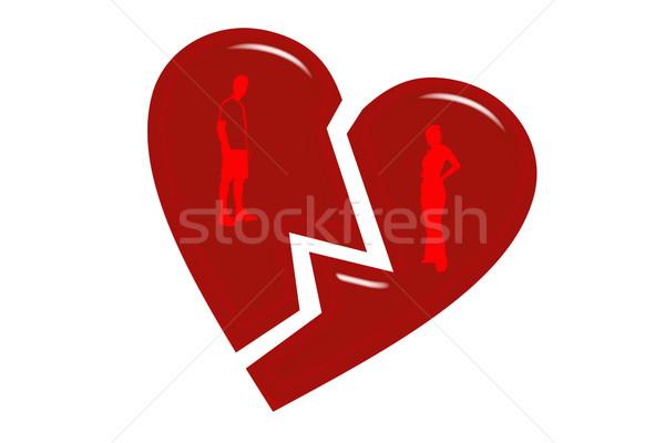 The broken heart Stock photo © mikhail_ulyannik