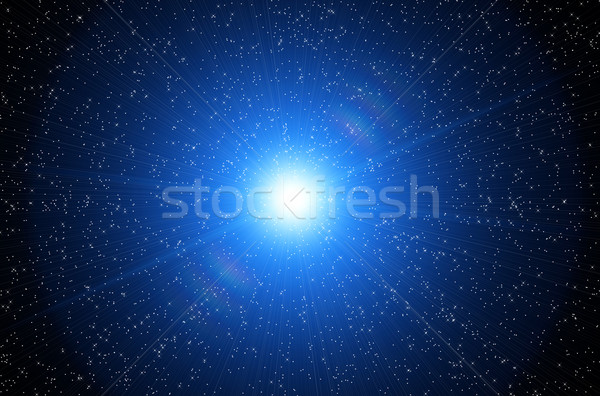 Kosmisch hemel abstract licht achtergrond sterren Stockfoto © mikhail_ulyannik