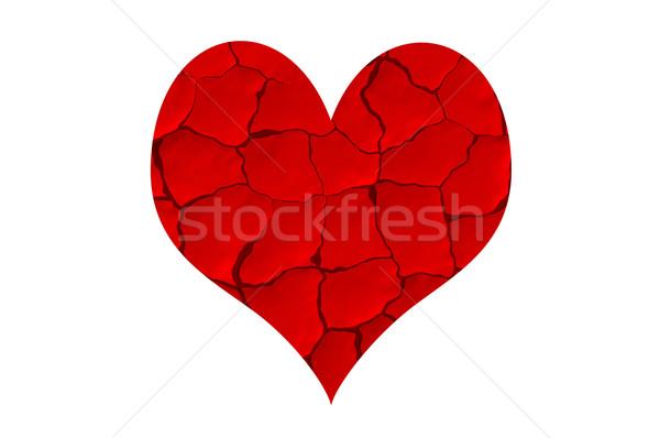 赤 中心 亀裂 カット ストックフォト © mikhail_ulyannik