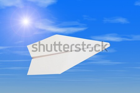 紙 平面 空 太陽 飛行機 速度 ストックフォト © mikhail_ulyannik