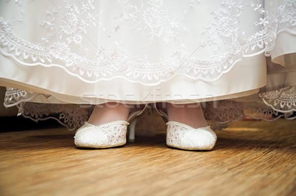 ウェディングドレス 靴 見 階 レベル 女性 ストックフォト © mikhail_ulyannik