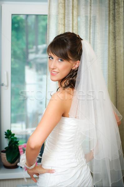 花嫁 ウェディングドレス 手 ヒップ 美しい 白 ストックフォト © mikhail_ulyannik