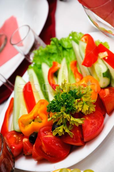 健康食品 新鮮な野菜 食品 背景 赤 サラダ ストックフォト © mikhail_ulyannik