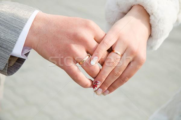 結婚式 手 手 女性 愛 ストックフォト © mikhail_ulyannik