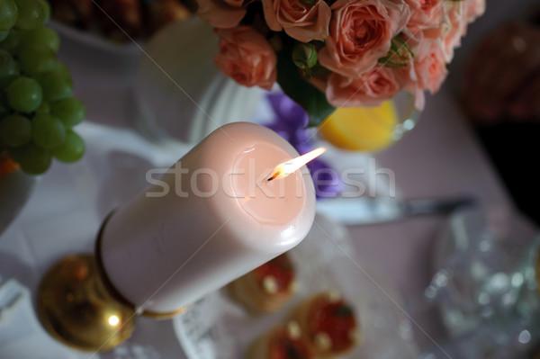 燃焼 キャンドル 立って 表 環境 花 ストックフォト © mikhail_ulyannik