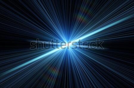 Nieuwe star tekening afbeelding zon abstract Stockfoto © mikhail_ulyannik
