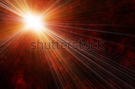 Multicolor flash espacio sol luz diseno Foto stock © mikhail_ulyannik
