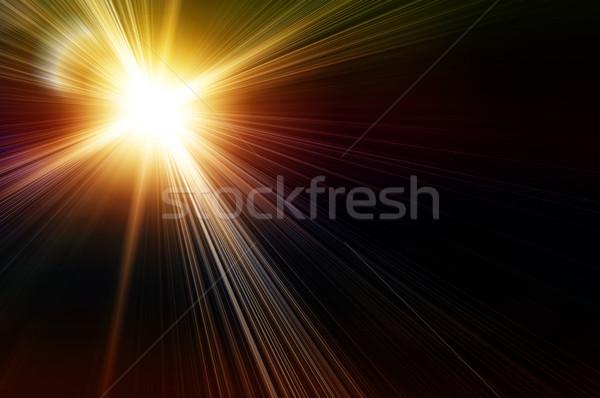 黄色 フラッシュ 虹 黒 背景 惑星 ストックフォト © mikhail_ulyannik