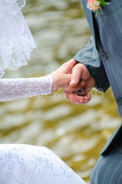 Stock photo: hand in hands