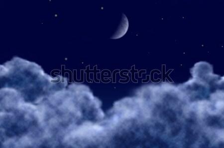 Notte scena tranquilla nubi natura luce Foto d'archivio © mikhail_ulyannik