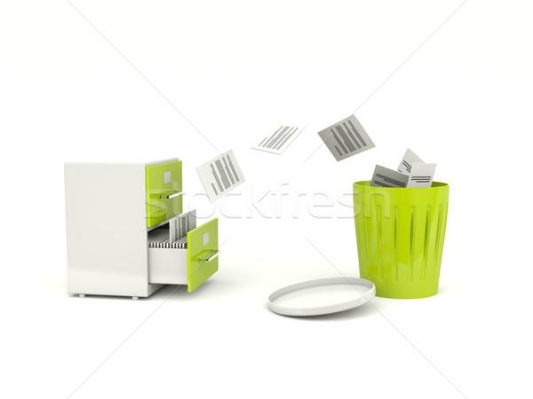 Dosyaları arşiv dolap Internet çelik beyaz Stok fotoğraf © MikhailMishchenko