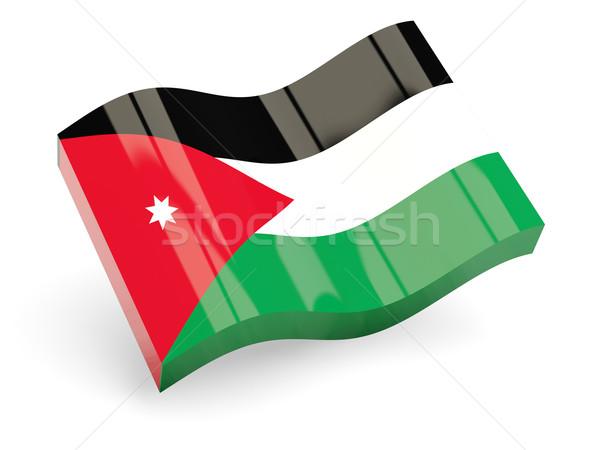 3D bandeira Jordânia isolado branco onda Foto stock © MikhailMishchenko