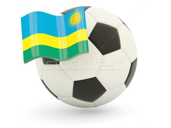 футбола флаг Руанда изолированный белый спорт Сток-фото © MikhailMishchenko