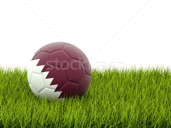 Football pavillon Qatar herbe verte football monde Photo stock © MikhailMishchenko