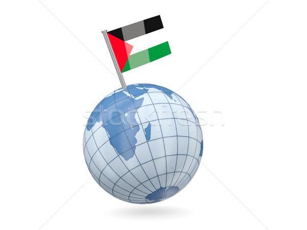 Globe with flag of palestinian territory Stock photo © MikhailMishchenko