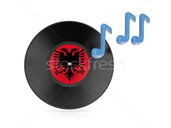 Vinyl disk with flag of albania Stock photo © MikhailMishchenko