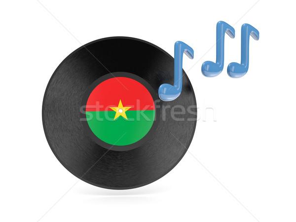 виниловых диск флаг Буркина- изолированный белый Сток-фото © MikhailMishchenko