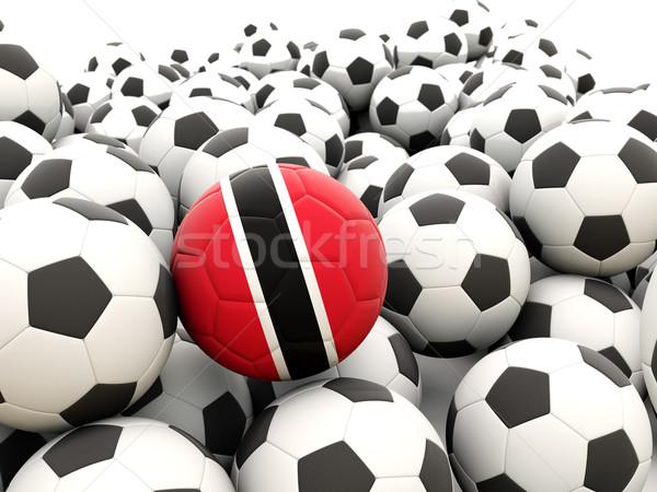 Football with flag of trinidad and tobago Stock photo © MikhailMishchenko
