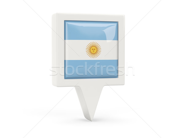 Square flag icon of argentina Stock photo © MikhailMishchenko