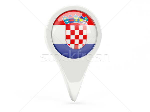 Round flag icon of croatia Stock photo © MikhailMishchenko