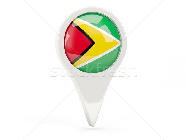 Zászló ikon Guyana izolált fehér térkép Stock fotó © MikhailMishchenko