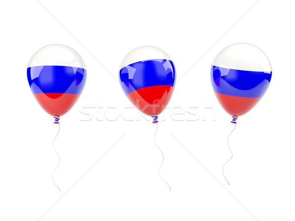 Air balloons with flag of russia Stock photo © MikhailMishchenko