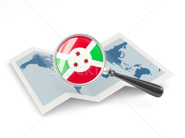 Bandeira Burundi mapa branco Foto stock © MikhailMishchenko