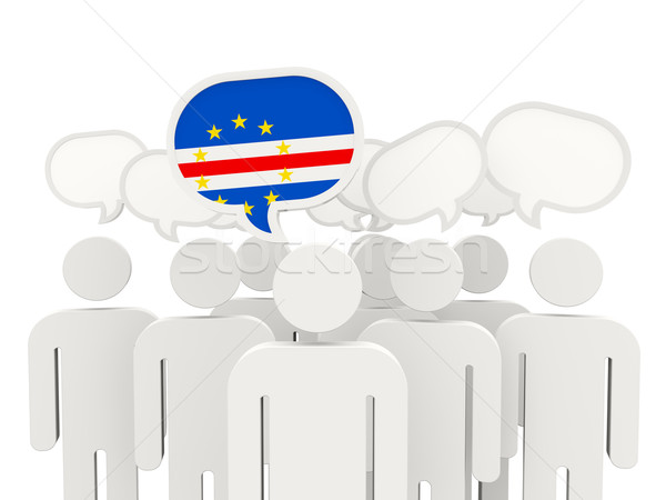 Stock photo: People with flag of cape verde