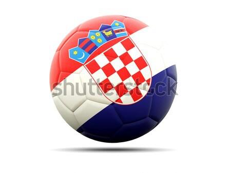 Icono bandera Croacia aislado blanco viaje Foto stock © MikhailMishchenko