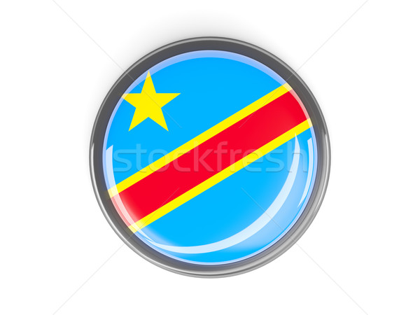 Round button with flag of democratic republic of the congo Stock photo © MikhailMishchenko