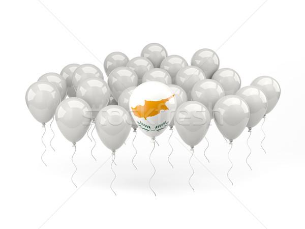 Air balloons with flag of cyprus Stock photo © MikhailMishchenko