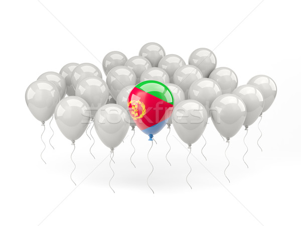 Air balloons with flag of eritrea Stock photo © MikhailMishchenko