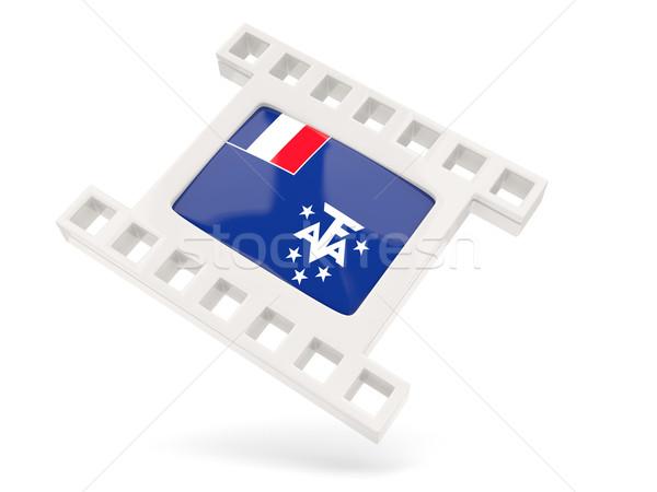 Movie icon with flag of french southern territories Stock photo © MikhailMishchenko